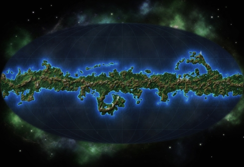 Map of the planet Xilos, from Warlord Games' Beyond the Gates of Antares wargame